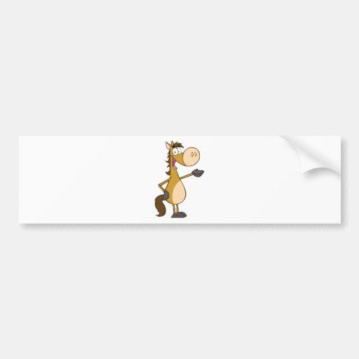 Mascote do cavalo dos desenhos animados adesivos