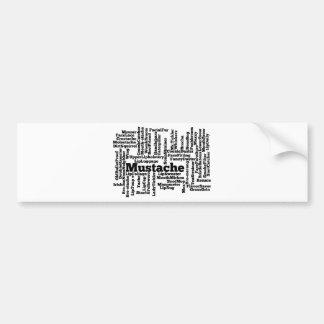 Mashup da palavra adesivo para carro