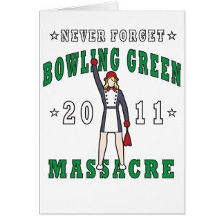 Massacre 2011 de Bowling Green Cartão