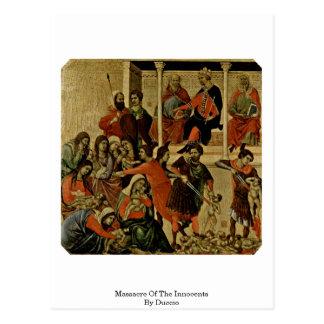 Massacre dos Innocents por Duccio Cartão Postal