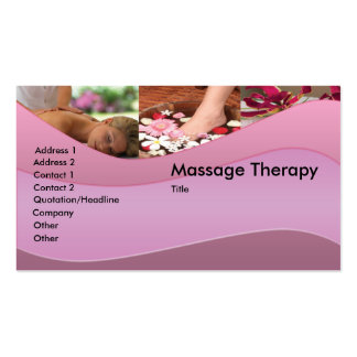 Massagem/cartão de visita do abrandamento cartão de visita