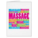 Massagem colorida cartão