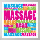Massagem colorida impressão