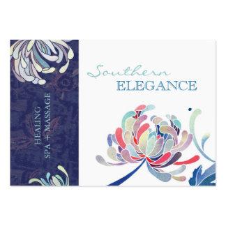 Massagem floral colorida + Cartões da nomeação dos Modelo Cartões De Visita