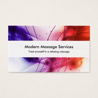 Massagem moderna cartão de visitas