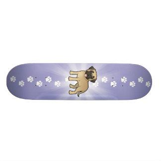 Mastiff/Bullmastiff dos desenhos animados Shape De Skate 18,7cm