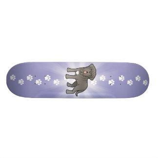 Mastiff napolitana dos desenhos animados shape de skate 20,6cm