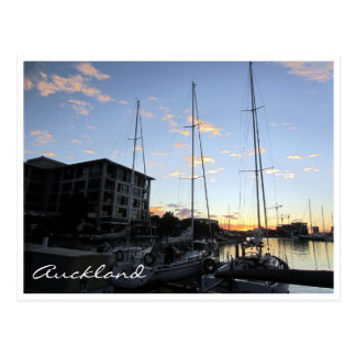 mastros do porto de auckland cartão postal