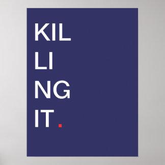 Matando o - poster inspirador pôster