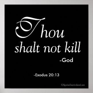 Matar de Shalt de mil não Pôster