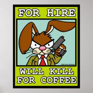 Matará para o poster do café pôster