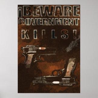 Matares do governo pôster