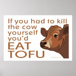 Mate a vaca - Vegan, vegetariano Pôster