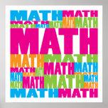 Matemática colorida poster