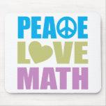Matemática do amor da paz mousepads