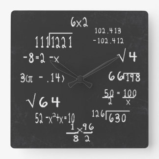 Matemática do geek do divertimento relógios para paredes