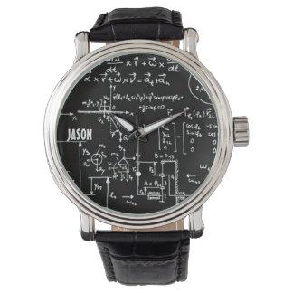 Matemática Geeky da matemática personalizada Relógios