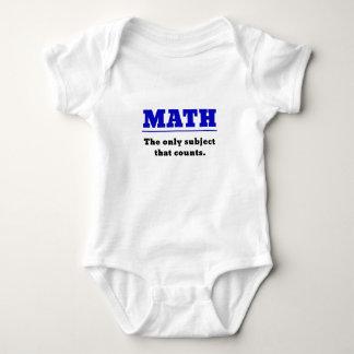 Matemática o único assunto que conta body para bebê