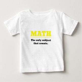 Matemática o único assunto que conta camiseta para bebê