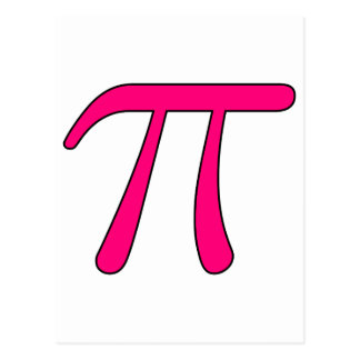 Matemática quente do símbolo do Pi 3,14 da luz do  Cartoes Postais