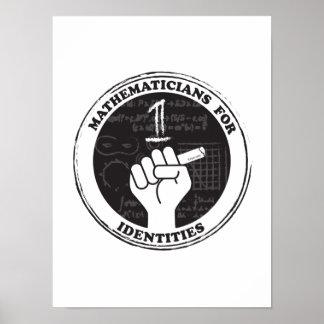 Matemáticos para o poster das identidades