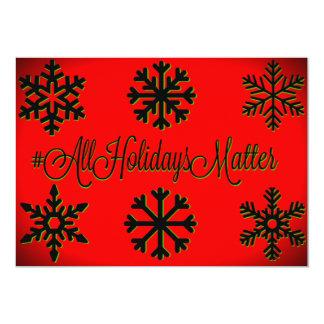 Matéria dos feriados do #All (vermelho, preto, e Convite 12.7 X 17.78cm