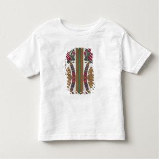 Matéria têxtil com as festões das margaridas camiseta