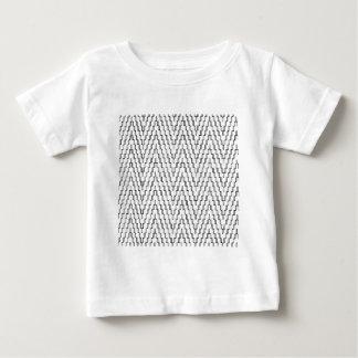 Matéria têxtil indonésia ondulada abstrata camiseta para bebê