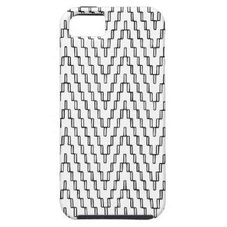Matéria têxtil indonésia ondulada abstrata capas para iPhone 5
