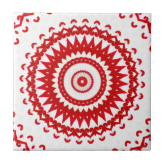 Matéria têxtil popular escandinava vermelha branca
