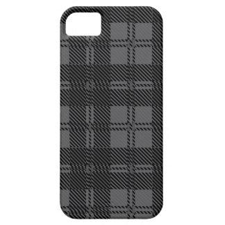 Material cinzento de lãs do Tartan da verificação Capas Para iPhone 5
