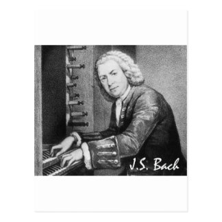 Material de Johann Sebastian Bach Cartão Postal