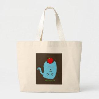 material em meu gato - maçã na cabeça bolsas para compras