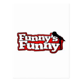 Material engraçado engraçado do logotipo cartão postal