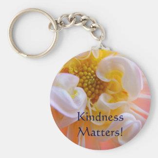 Matérias da bondade! flores cor-de-rosa da dália d chaveiros