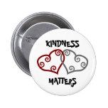 Matérias entrelaçadas da bondade dos corações boton
