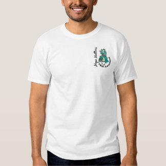 Matérias PKD da esperança da fita 4 da flor Camiseta