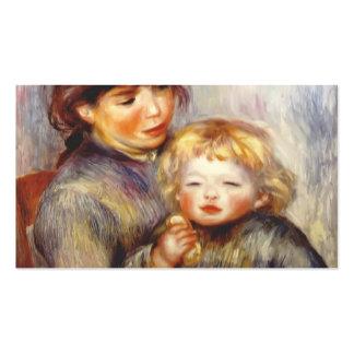 Maternidade de Pierre Renoir- (criança com um bisc Modelos Cartoes De Visita