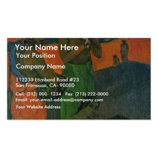 Maternidade por Gauguin Paul (a melhor qualidade) Cartão De Visita