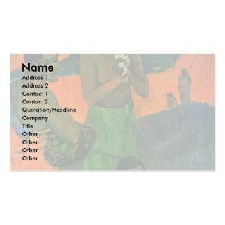 Maternidade por Gauguin Paul (a melhor qualidade) Cartoes De Visitas