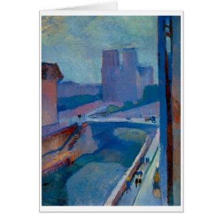 Matisse cartão do cumprimento ou de nota de Notre
