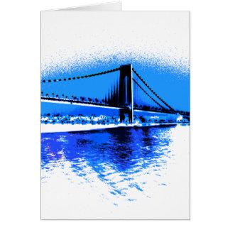 Matiz do cartão da ponte dos azuis