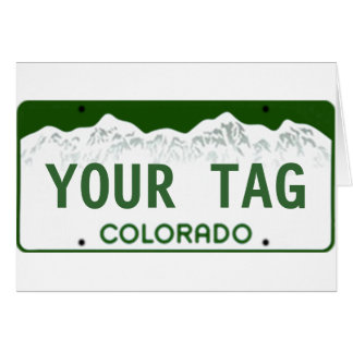 Matrícula feita sob encomenda de Colorado Cartão Comemorativo