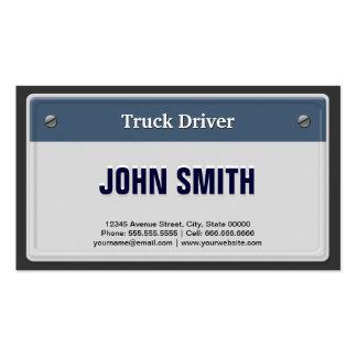 Matrícula legal do carro do camionista cartão de visita