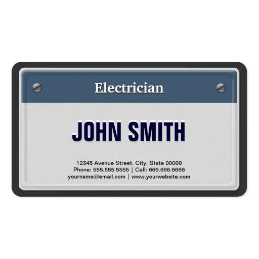 Matrícula legal do carro do eletricista cartões de visitas