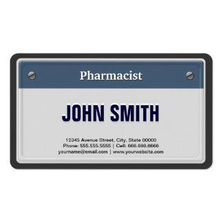 Matrícula legal do carro do farmacêutico cartão de visita