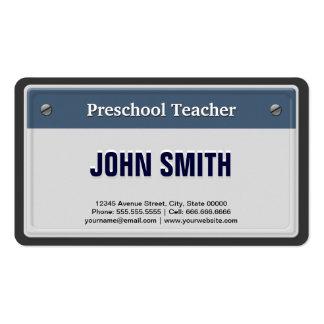Matrícula legal do carro do professor pré-escolar modelos cartão de visita