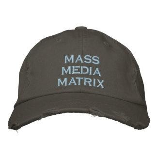 matriz das mass media boné bordado
