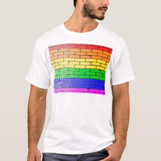 Matriz de ponto do arco-íris camiseta