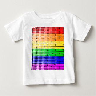 Matriz de ponto do arco-íris camiseta para bebê